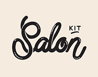 Logo & Lettering Design: Salon Kit