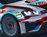 Teamwork Motorsport TCR Asia VW Golf Livery