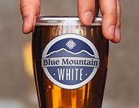 Blue Mountain White Logo Design