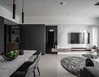 Apartment Interior Design | Black, White and Milk Tea