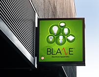 Blaze Shop Sign