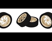Gold Alloy car wheels