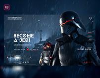 Jedi: Fallen order · Concept web UI / UX