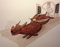 """Book illustration in progress: """"Sloni a jiní oni"""""""