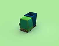 transport low poly