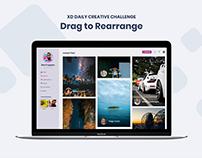 Challenge 02 - Drag to Rearrange #XDdailychallenge