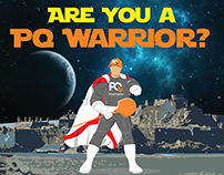 PQ Warrior campaign for Pizza Quarter