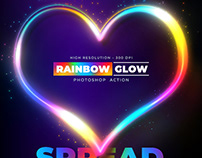 Rainbow Glow – Photoshop Action – 300 DPI