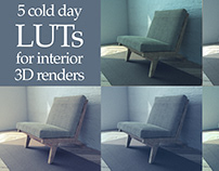 5 cold day LUTs for 3D interior renders