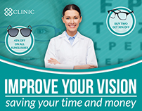 Optometrist & Optician Postcard Template