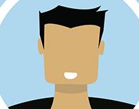 Flat design avatar
