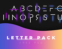 FREE Cool Letter PSD Pack by Citrus