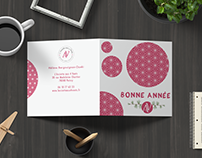 """Carte de vœux """"Assiette aux 4 vents"""" 2019"""