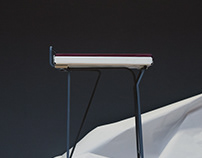 FE-30 - Study for a 30in Steel Stool 2018