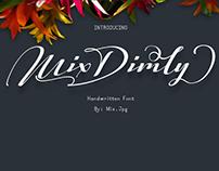 MIX DIMLY - FREE SCRIPT FONT