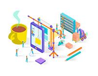 Sophilabs Website Illustrations