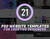 21 Latest Creative PSD Website Templates for Designers