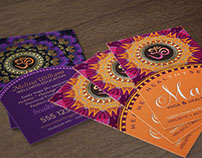 OM • YOGA • NEW AGE Business Cards