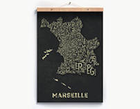 Marseille neighborhood poster