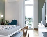 Scandinavian bedroom hotel