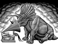 Triceratops and Phonograph