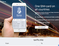 Domoy: One SIM-card on all countries (corporate site)