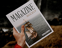 Magazine Mockup 1 Free Psd Download