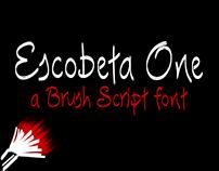 Escobeta One -Brush Script font-