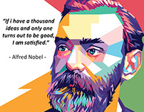 ALFRED NOBEL PORTRAIT