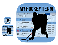 iOS icon—My Hockey Team—modernized for 2015
