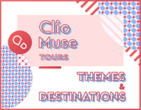 Clio Muse Tours Themes & Destinations Covers