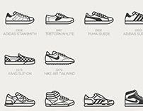 Timeless Sneakers icon set