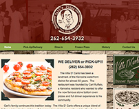 Carl's Pizza Web Page Design