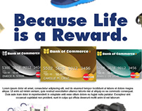 Bank of Commerce Reward Cards Web Ads