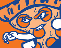 Wildcat vs Pizza T-Shirt Design