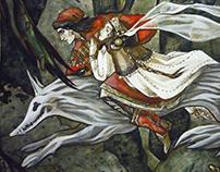 Russian folk tale illustration