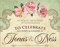 Jonas and Ness Wedding Invite