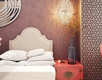 Спальня для двух девочек в марокканском стиле