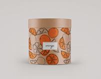 Orange illustration and box design
