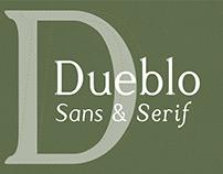Dueblo Sans & Serif Fonts