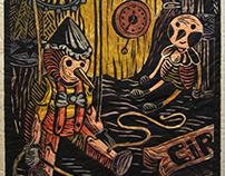 Woodcut - Pinocchio