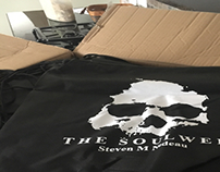 Screen printing For my book, The Soulweb.