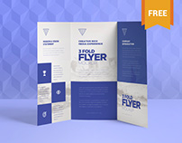 Free & Exquisite 3 Fold Brochure Mockups