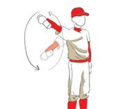 Baseball Exercise Illustrations
