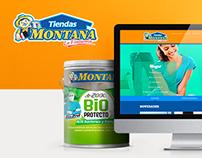 Tiendas Montana - Web page