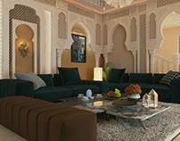 Modern Moroccan Majlis Style. Interior Design