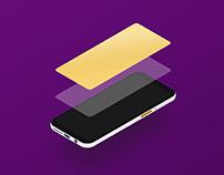 Minimalist Isometric Phone Mockup