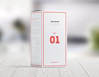 Package Box Mock-up, Set 1: Rectangle box