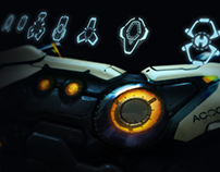 Sci-fi Weapon Concept & Reticle Design for Firefall