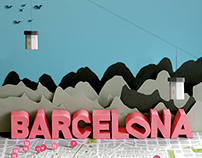 Barcelona Map Illustration